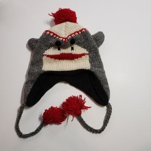 Other - Sock Monkey Wool Hat Toddler Size